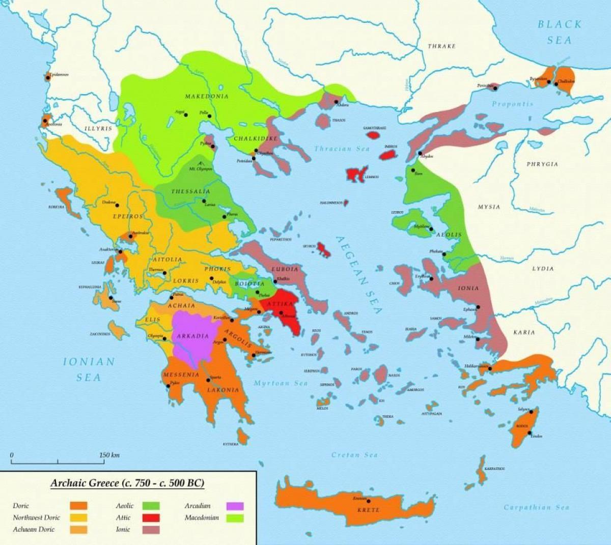 Atina V Drevna Grciya Karta Karta Na Atina I Sparta Drevna